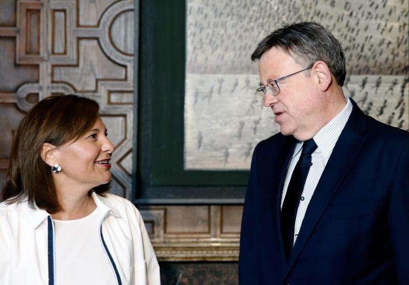 El president de la Generalitat, Ximo Puig, y la presidenta regional del PP, Isabel Bonig. EFE/Archivo