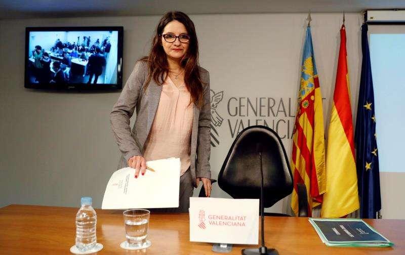 La vicepresidenta y portavoz del Consell, y consellera de Igualdad, que ha asumido la tutela del bebé, Mónica Oltra. EFE/Archivo