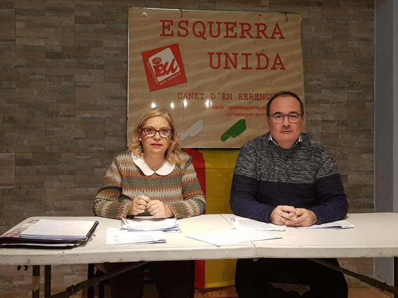 Candidatos de Esquerra Unida por Canet
