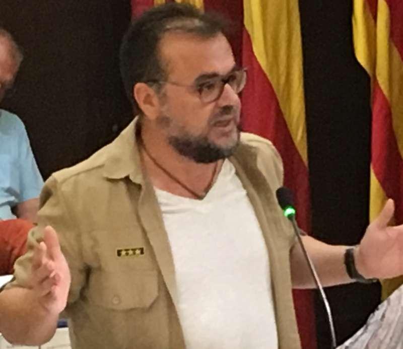 Juan Guillén en el pleno de Sagunt. EPDA