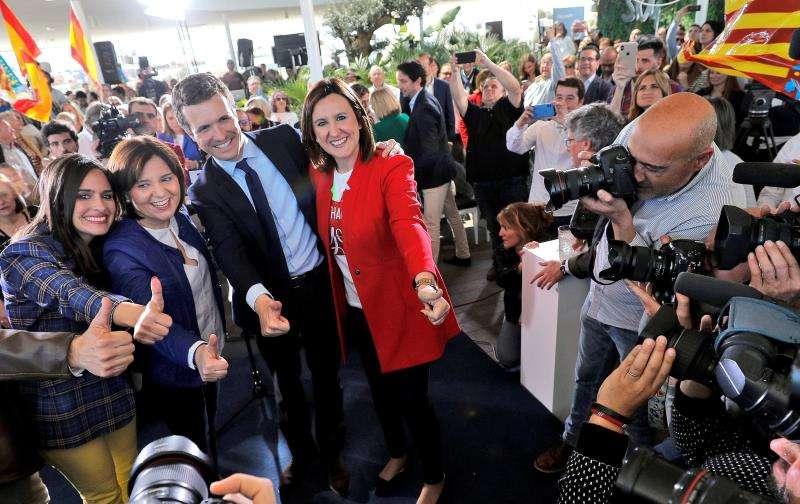 El líder del PP, Pablo Casado, en una visita anterior a València. EFE/Archivo