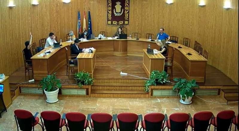 Votación del presupuesto en el pleno de Moncada. EPDA