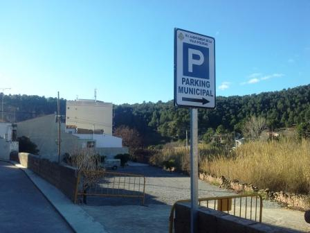 Nuevo aparcamiento público en Olocau. Foto EPDA
