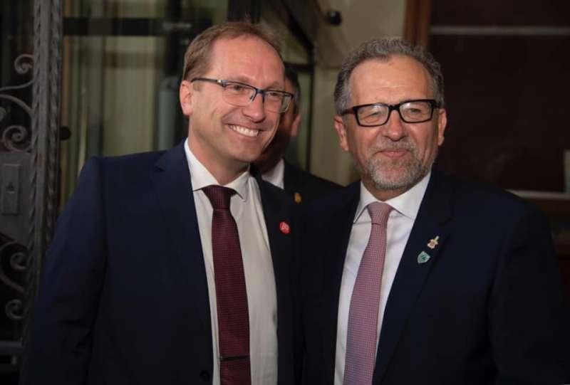 José Pascual Martí y Ernest Blanch posando. -EPDA