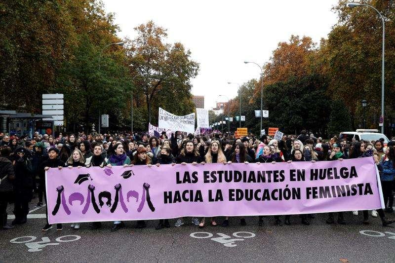 Manifestación en contra de la violencia machista. EFE/Archivo