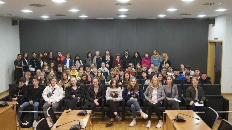 Imatge dels alumnes de intercanvi de Bremen