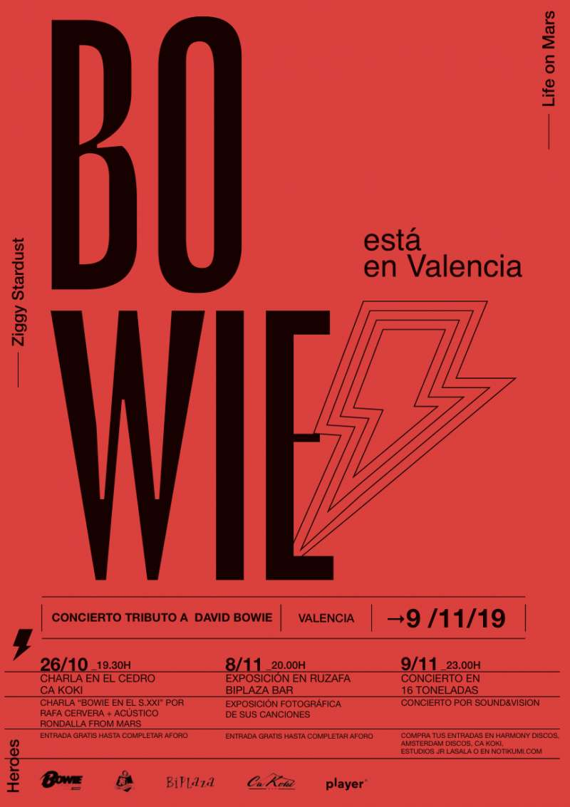 Cartel BOWIE en Valècia - EPDA