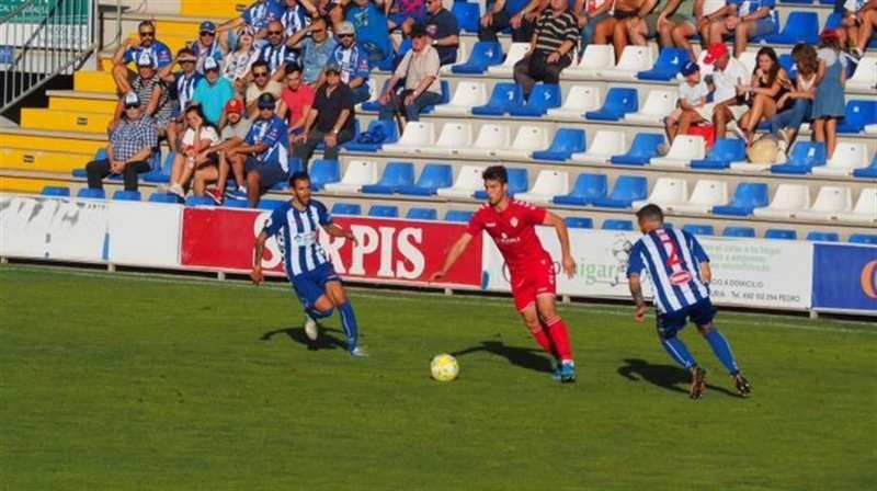 Momento del partido, en una imagen compartida en redes por el CD Castellón. EPDA