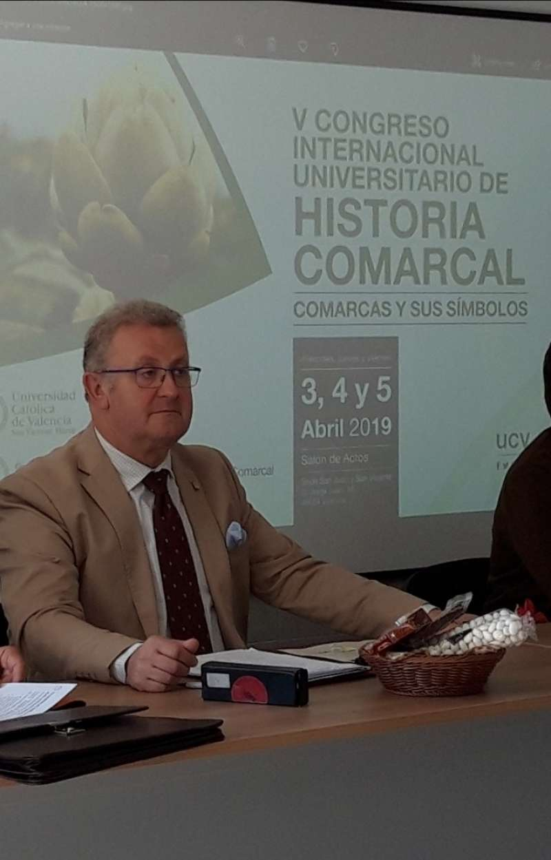 Salvador Murgui en el V Congreso Internacional Universitario de Historia Comarcal./epda
