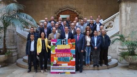 El Diputado de deportes con representantes del área de los distintos municipios de la provincia de Valencia donde está prevista esta prueba.