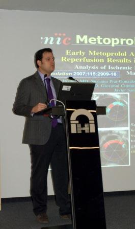 En el seminario de Incliva, uno de los  cardiólogos del CNIC de mayor proyección. EPDA