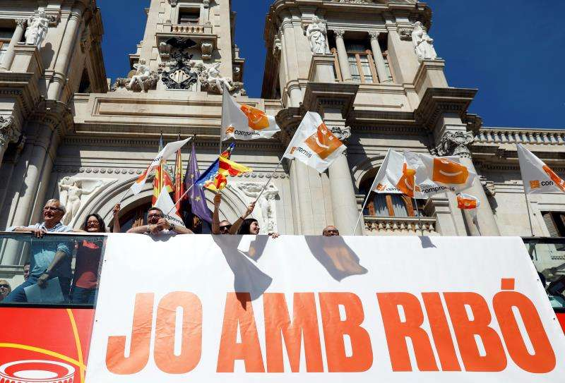 El alcalde de València y candidato a la reelección por Compromís, Joan Ribó (i). EFE/Archivo