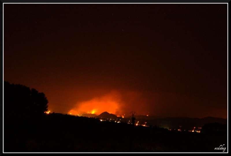Imagen de un incendio forestal. EPDA