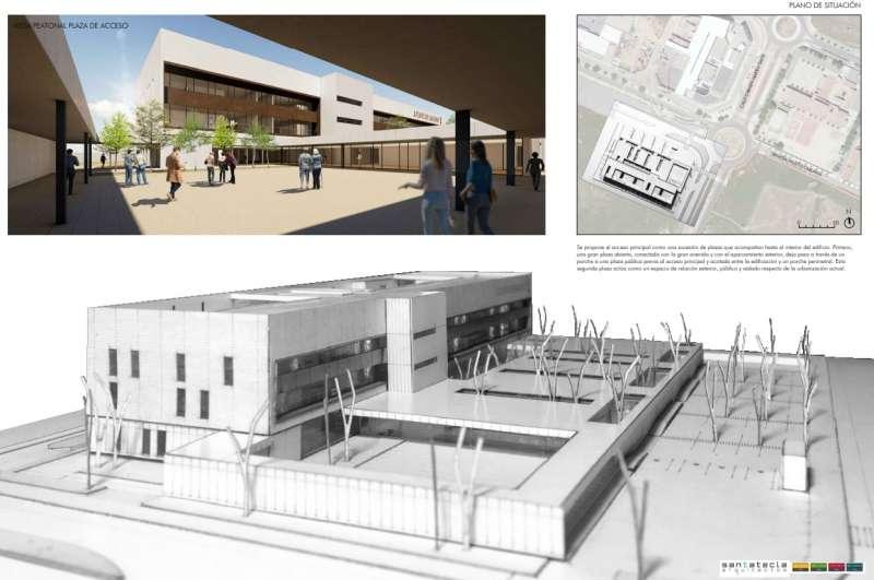 Proyecto del futuro Palacio de la Justicia de Sagunt. / EPDA