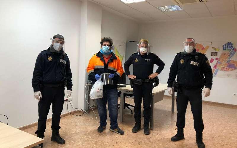 Agentes de la Policía Local de Puçol. EPDA