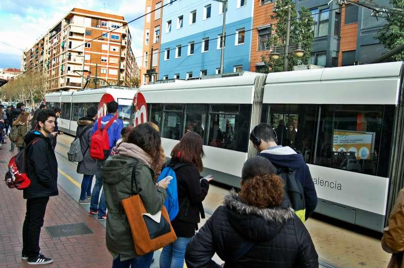 Tranvía en Valencia.