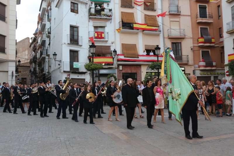 Banda de Segorbe llegando al Ayuntamiento