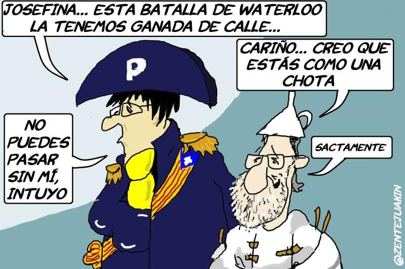 Puigdemont y Rajoy, como una chota.
