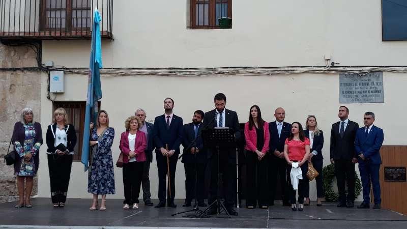 Discurso del alcalde durante la procesión cívica