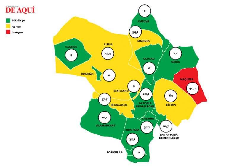 Mapa del 20 de junio de 2021. EPDA.