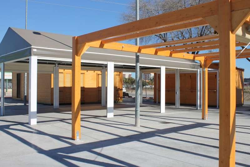 Construcción de un aula y un local de restauración en el recinto del campo de fútbol de Alfafar. EPDA