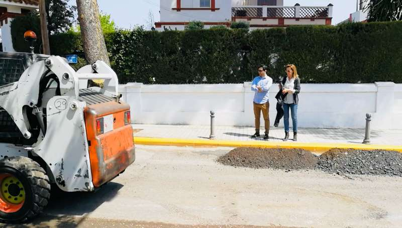 Obras calle 7 La Canyada