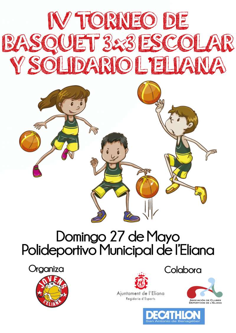 El IV Torneo 3x3 de básquet escolar y solidario regresa a l?Eliana