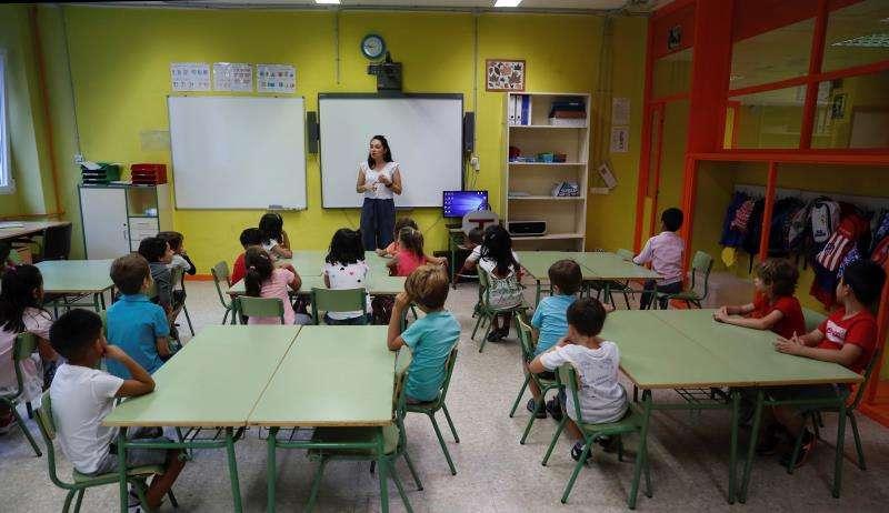 Niños en un colegio.FOTO EFE ARCHIVO