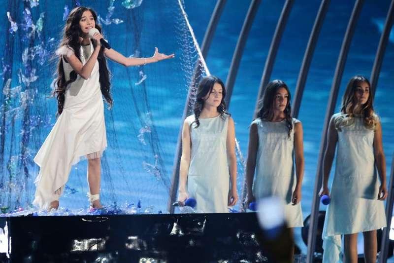Un momento de la actuación de la valenciana Melodi en Eurovision Junior. EFE/EPA/Andrzej Grygiel POLAND OUT