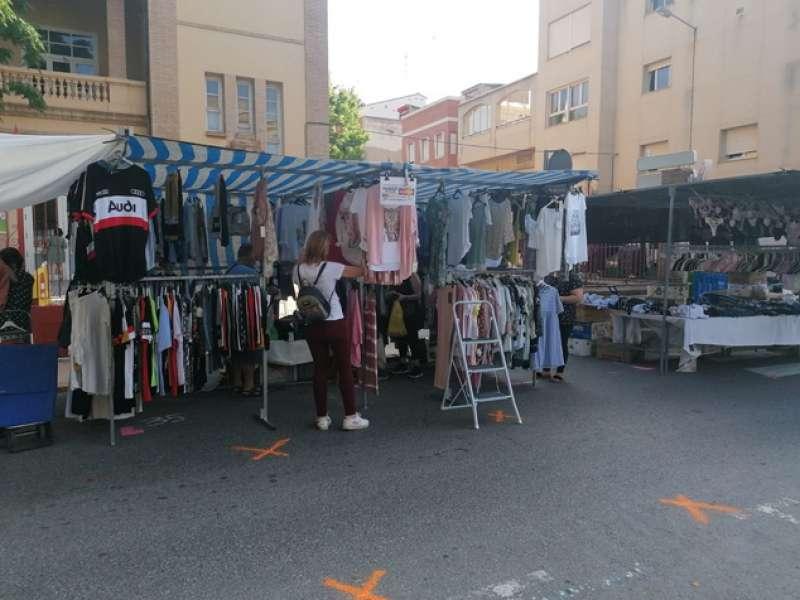 Mercado exterior de Sagunt.