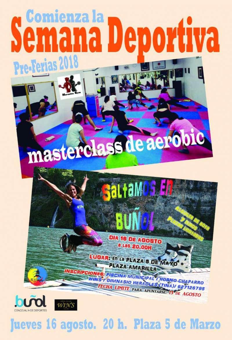 Cartel semana deportiva de Buñol. EPDA