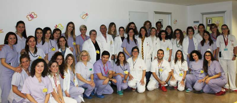 El equipo de pediatría y ginecología de Vinalopó Salud.