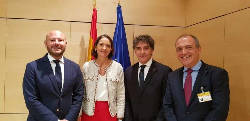 Gaspar, Colomer y Bernabé, en el acto en Madrid. EPDA