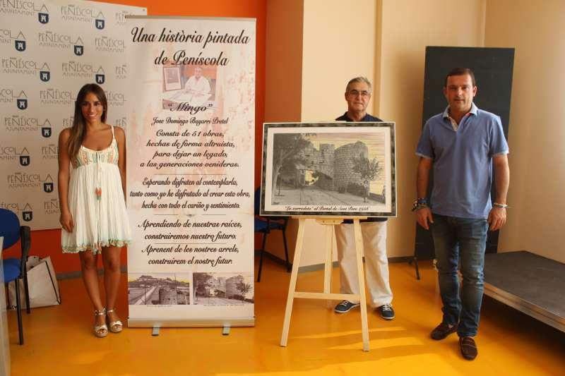 Presentación de la exposición en el Ayuntamiento de Peñíscola.