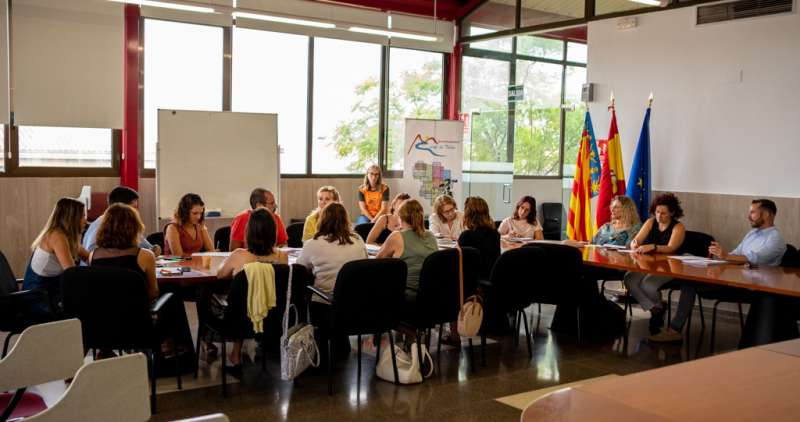 Instante de la reunión de Juventud