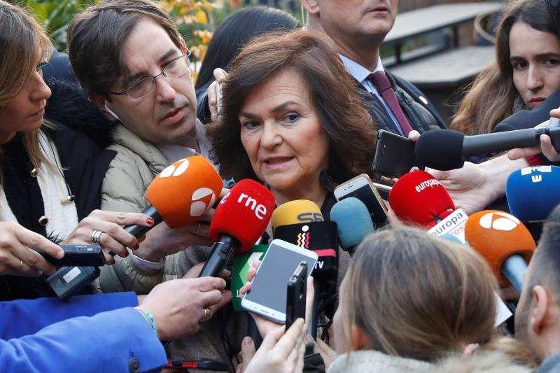 La vicepresidenta del Gobierno, Carmen Calvo. EFE/Archivo