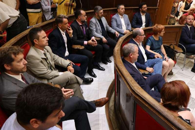 Concejales del Ayuntamiento de Sagunt en un pleno. EPDA