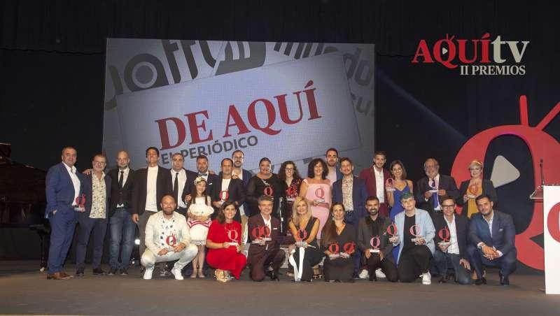 Ganadores de los Premios Nacionales Aquí Tv 2018. / epda