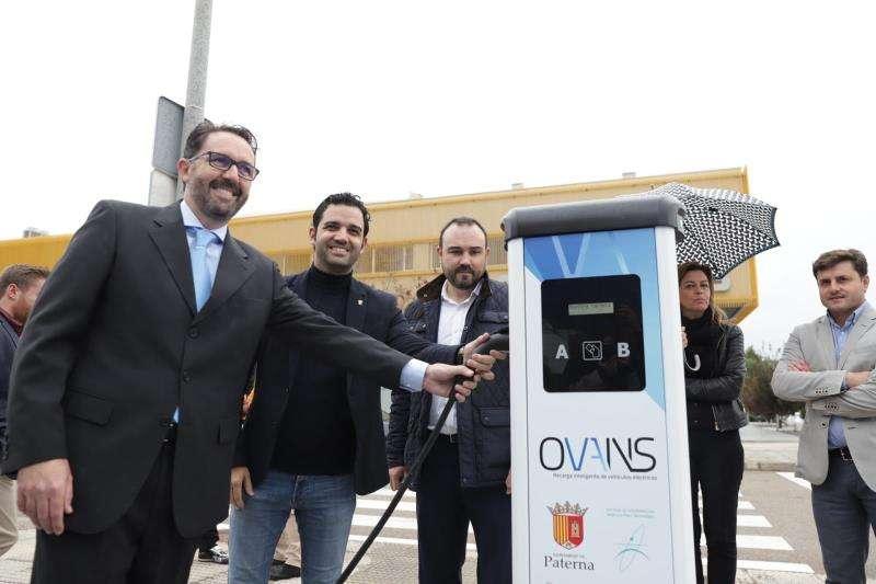 Punto de recarga eléctrico en el Parque Tecnológico de Paterna. EFE/Ayuntamiento de Paterna
