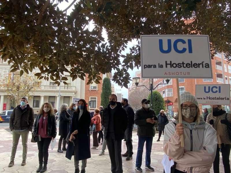 Concentración hosteleros en Castellón
