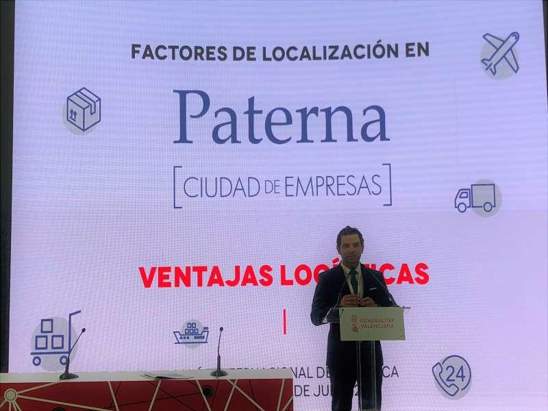 Sagredo durante su intervención en el Salón Internacional de Logística de Barcelona.