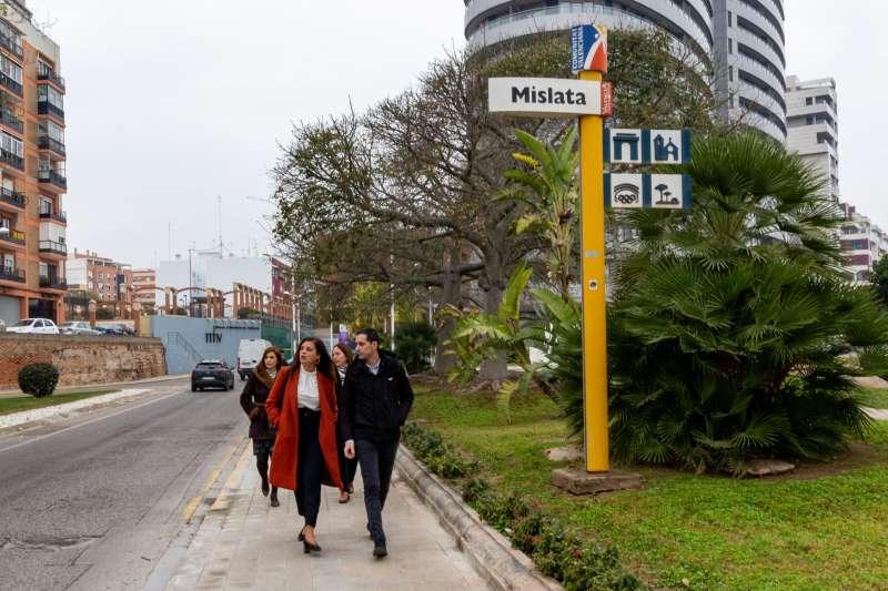Visita de Sandra Gómez a Mislata. EPDA