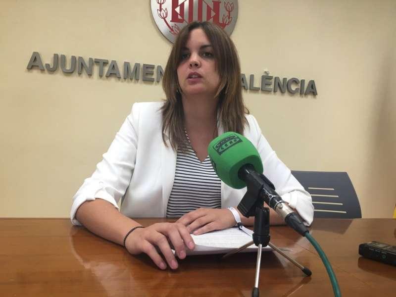 Sandra Gómez, portavoz socialista en el Ayuntamiento de Valencia.