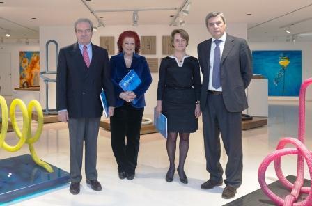 Presentación en el IVAM de la muestra dedicada a la obra de la artista Mónica Ridruejo. Foto EPDA