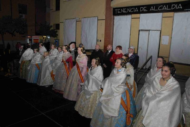 Las Falleras Mayores y sus Cortes de Honor en la Crida. EPDA