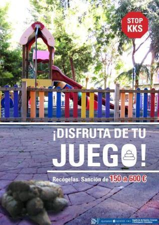 Uno de los carteles de la campaña de concienciación ciudadana. Foto: EPDA.