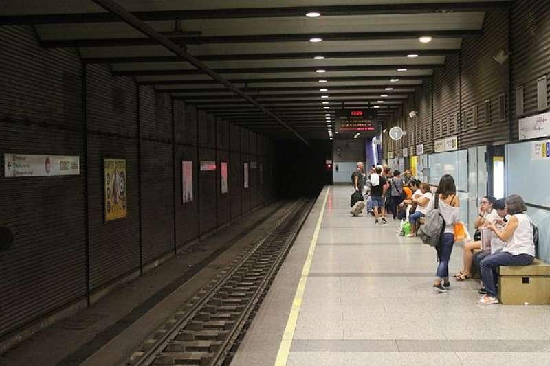 Andén de la estación de Xàtiva de Metrovalencia.