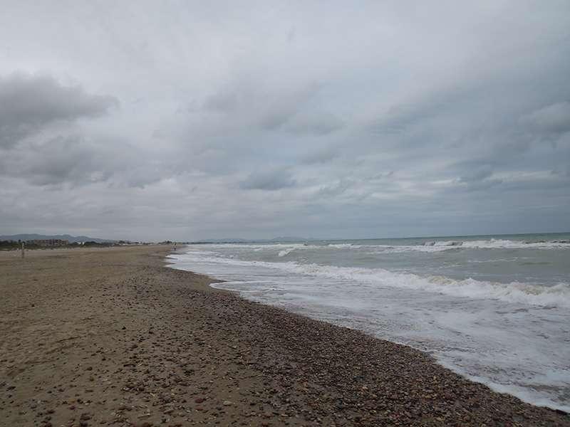 Piedra en la playa de Canet. EPDA