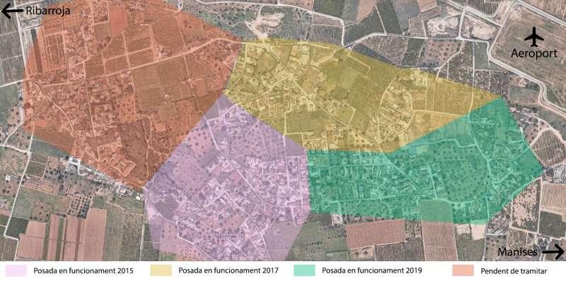 Mapa del enllumenat de La Malla