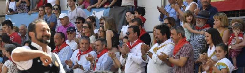 El presidente y el vicepresidente de la Diputación de Castellón en el acto de Segorbe.